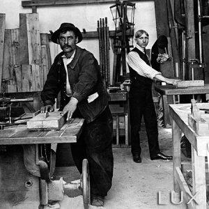 Atelier de menuiserie / 1910