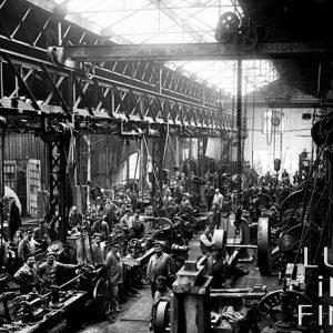 Atelier de construction mécanique / Usine de Fourchambault, Nièvre, 1895