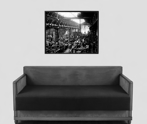 photographie ancienne atelier de construction m canique ni vre 1895. Black Bedroom Furniture Sets. Home Design Ideas