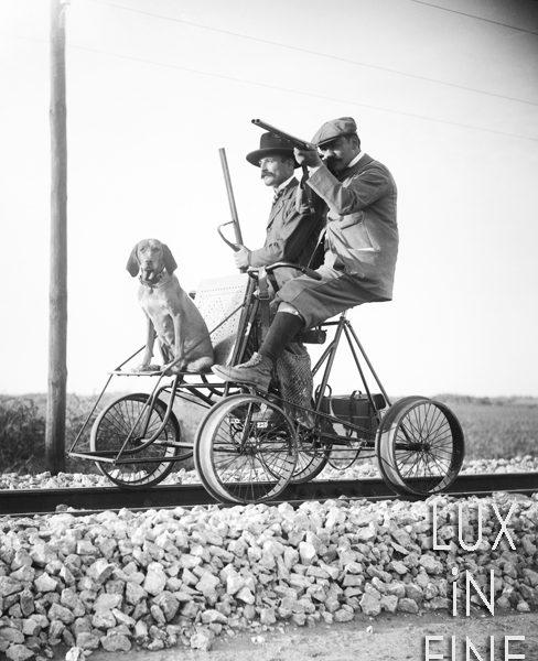 Chasseurs en chariot / Indre-et-Loire, 1895