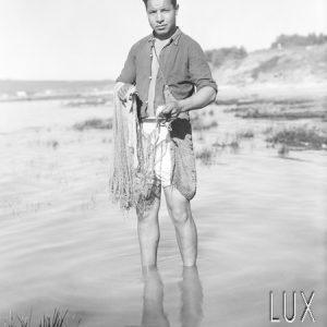 Le pêcheur à pied / Tunisie, 1947
