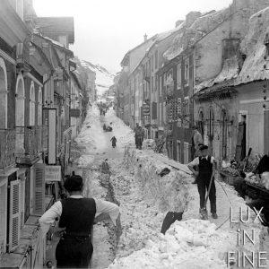 Avalanche / Alpe d'Huez, 1950