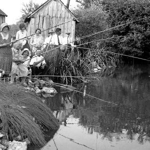 Partie de pêche / Souvigné, (37), 1927
