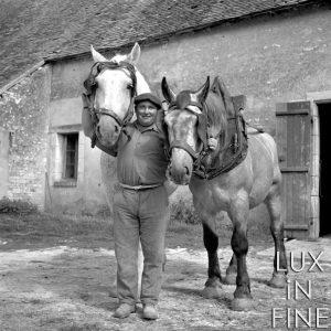 Le fermier et ses deux chevaux / Valençay (36), 1941