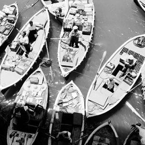 Les bateaux de ravitaillement, Indochine, 1950 - NE032535