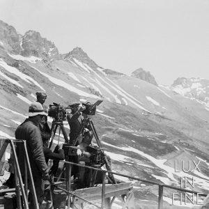 Cinema, tournage d'un film dans les Alpes - NE038298